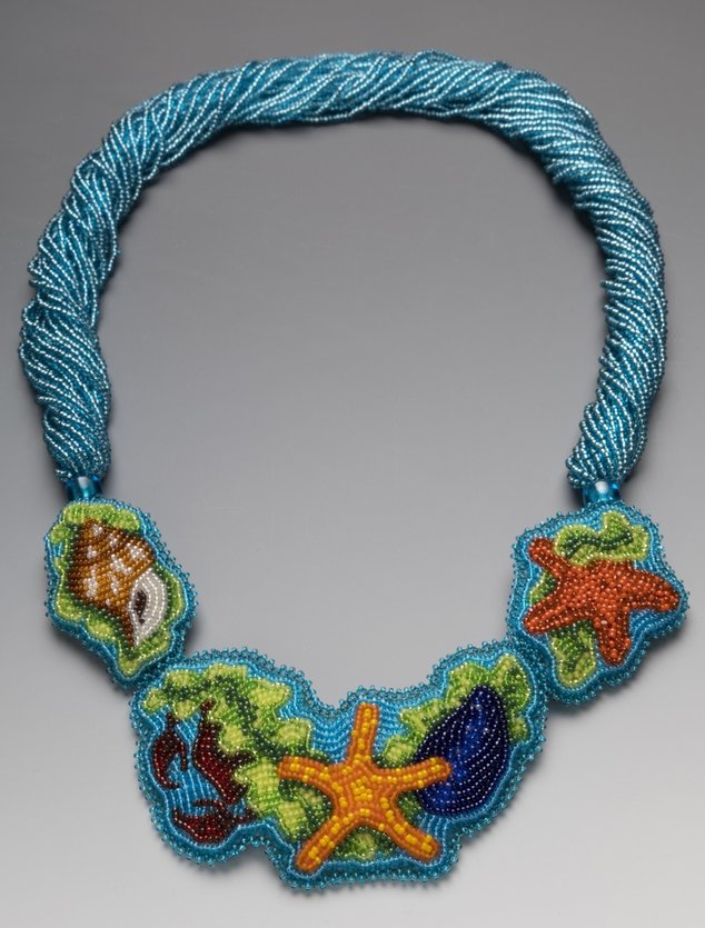 Beth Blankenship, tide pool, sea life, Alaska, bead art, contemporary fine craft jewelry